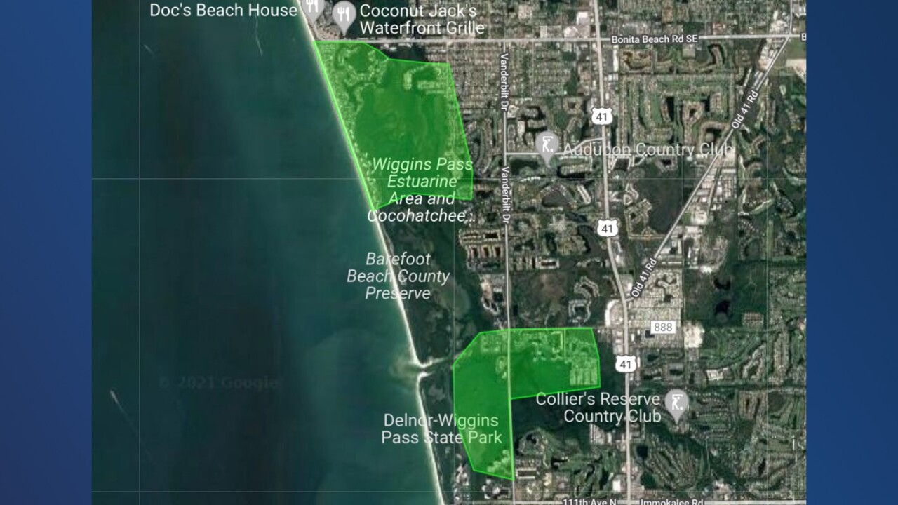 June 14 spraying locations (Collier Mosquito Control District)