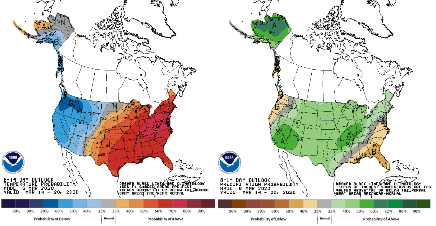 Climate Prediction Center Outlook-Source: NCDC
