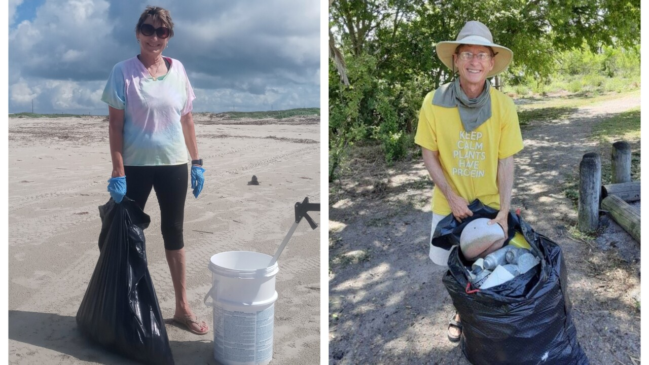 Environmental group recognizes locals each month for their park and beach cleanup efforts
