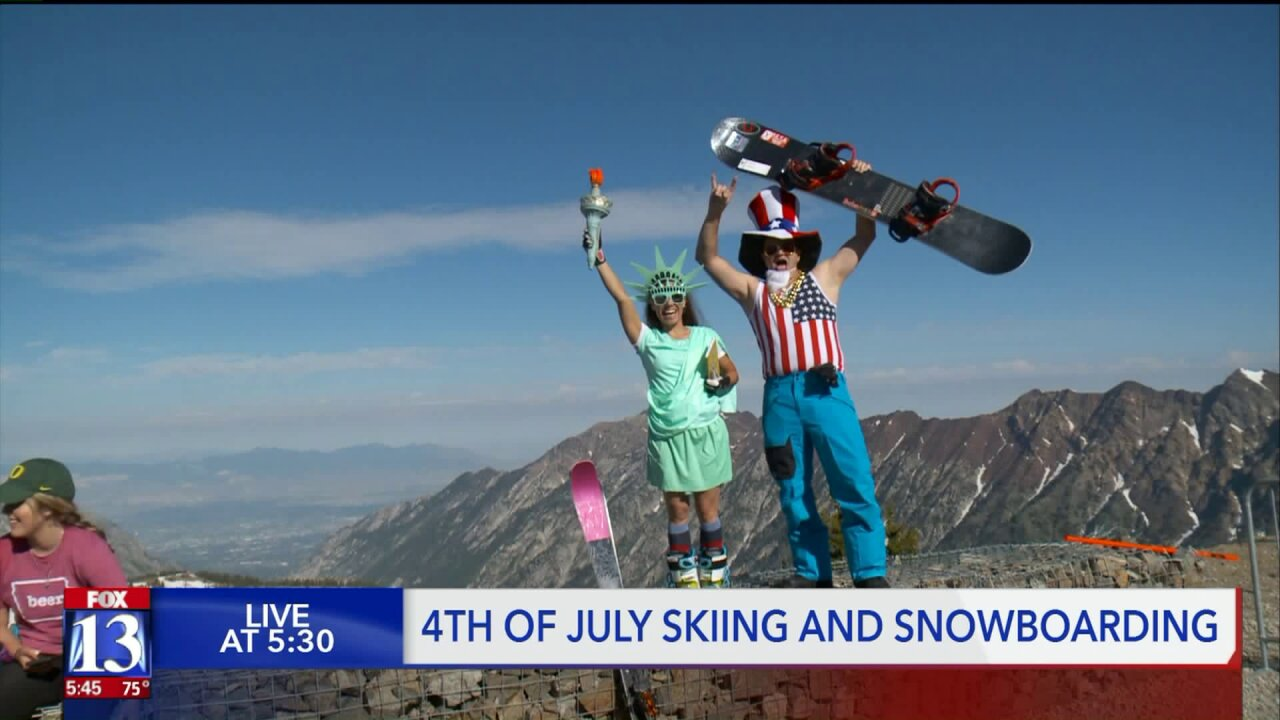 Sun and slopes: Fourth of July skiing atSnowbird