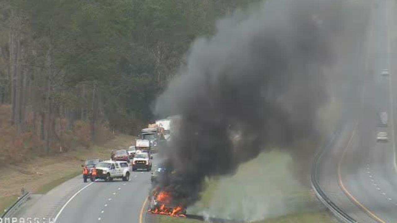 Vehicle fire shuts down I-10 EB in Chattahoochee