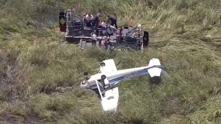 Plane crashes in the Everglades in Broward County