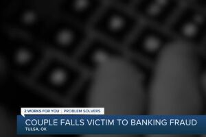 Couple falls victim to banking fraud