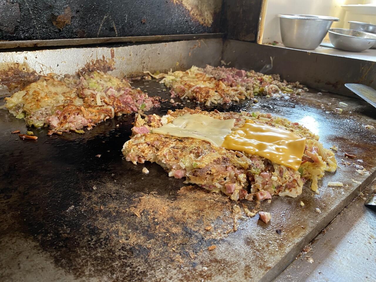 Franks Diner 'Garbage Plate'