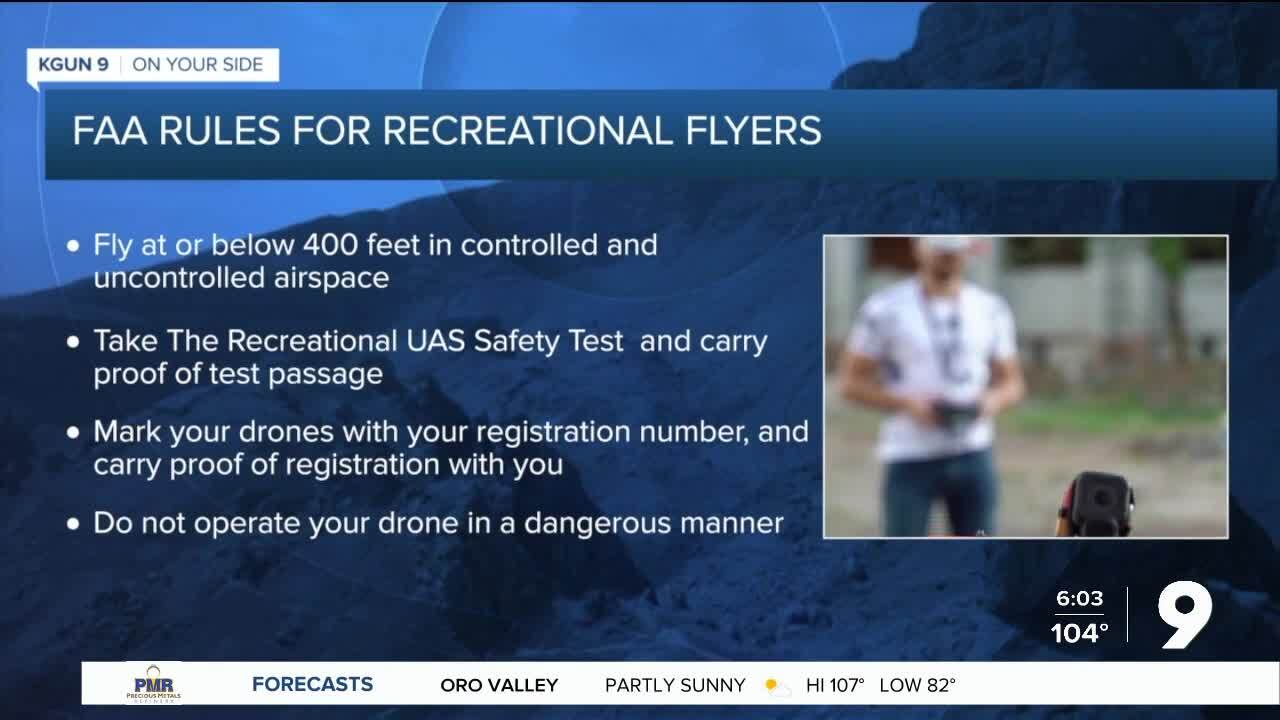FAA rules for recreational flyers