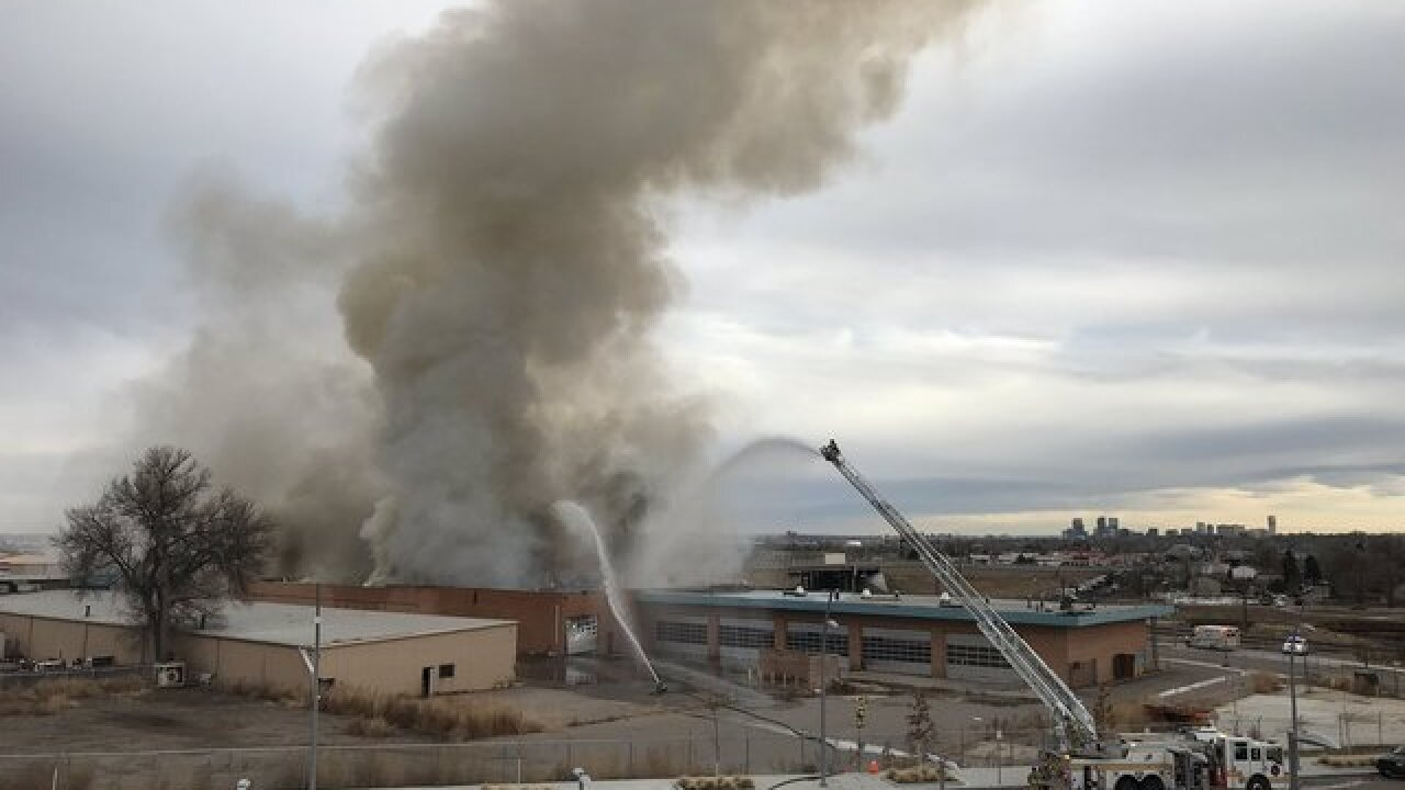 Fire burns commercial building in Westminster