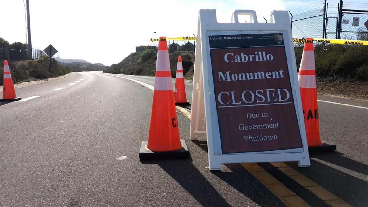 government shutdown cabrillo national monument