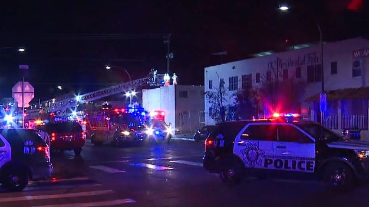 A fire at the vacant Mission Inn in downtown Las Vegas is concern of City of Las Vegas leaders