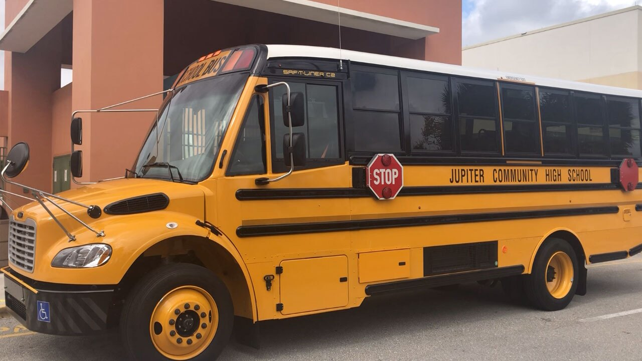 New Jupiter High School ESE school bus