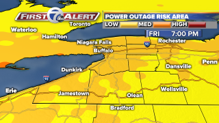 Power outages possible on Friday across Western New York