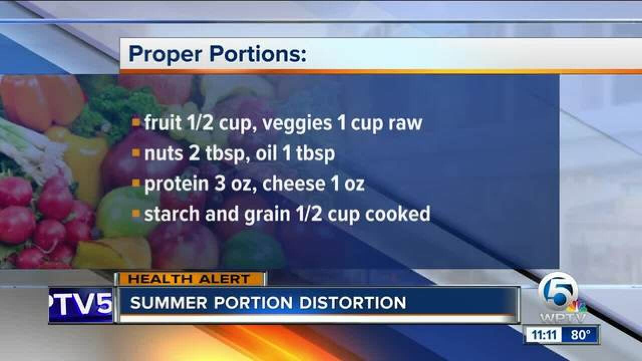 Advice on portion control and summer portion distortion