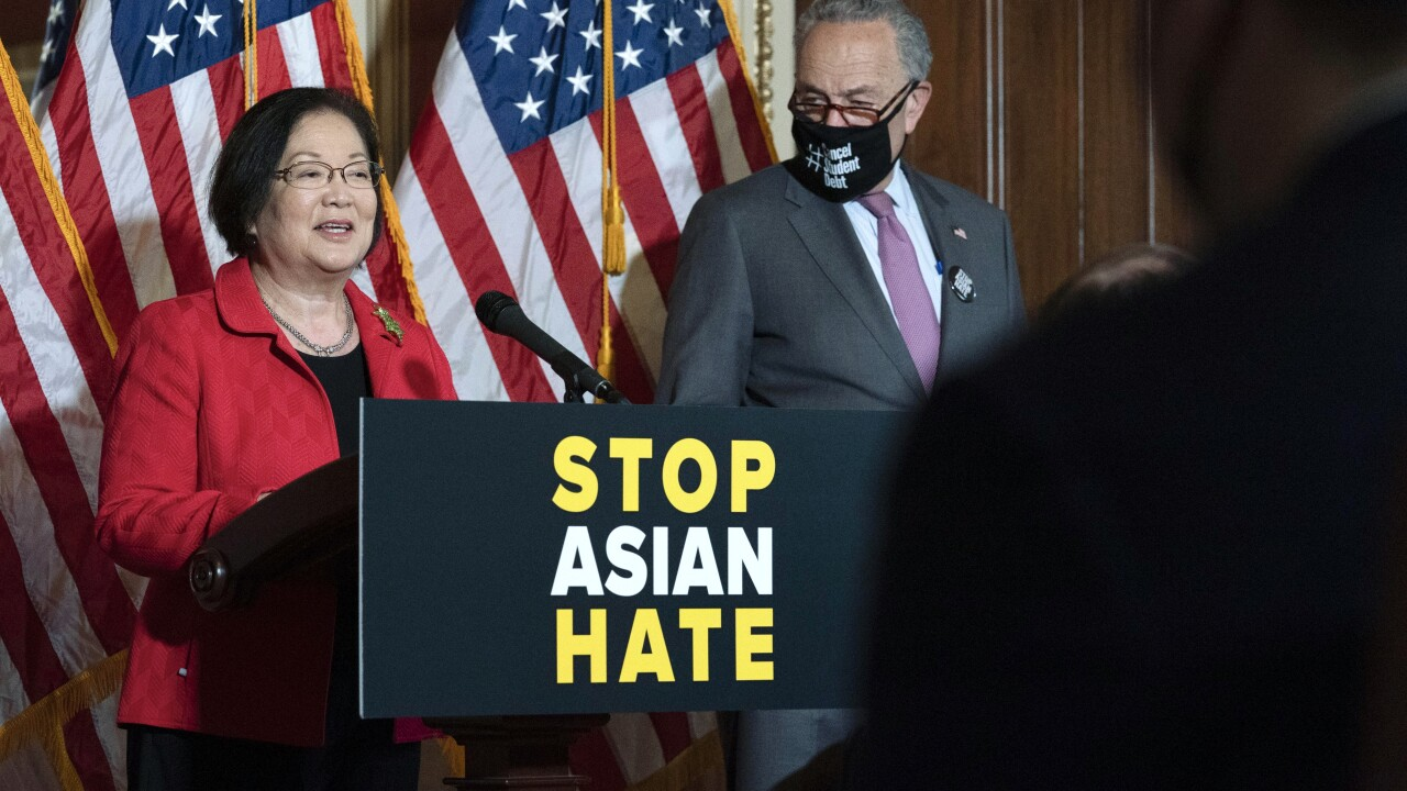 Hirono Schumer Asian-American hate crimes
