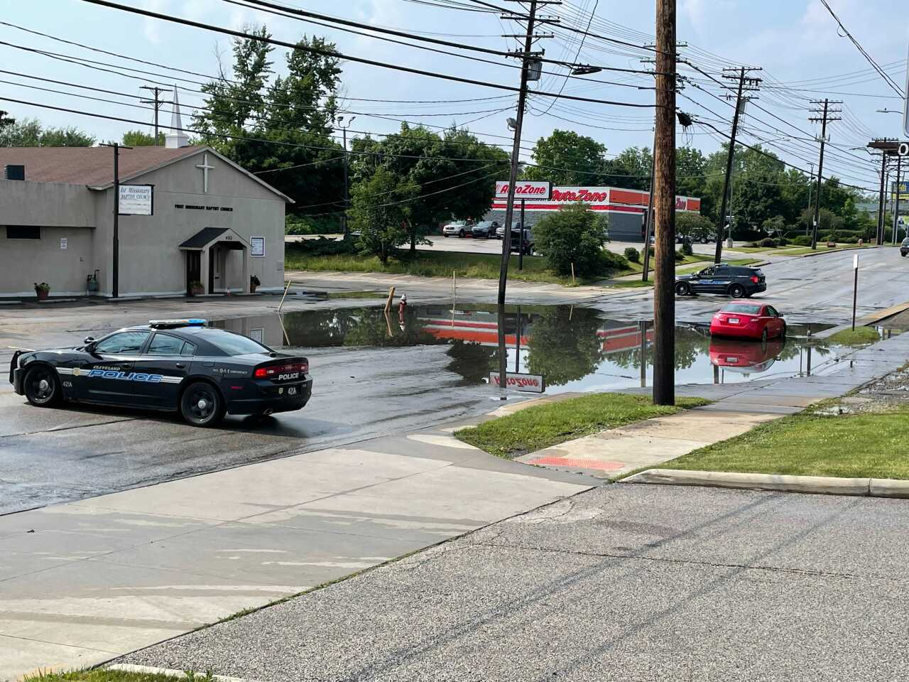 Car in water Miles avenue cleveland.jpg
