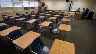 Virus Outbreak California Schools - Classroom