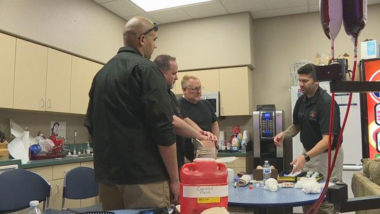 Paramedics train to apply military trauma care