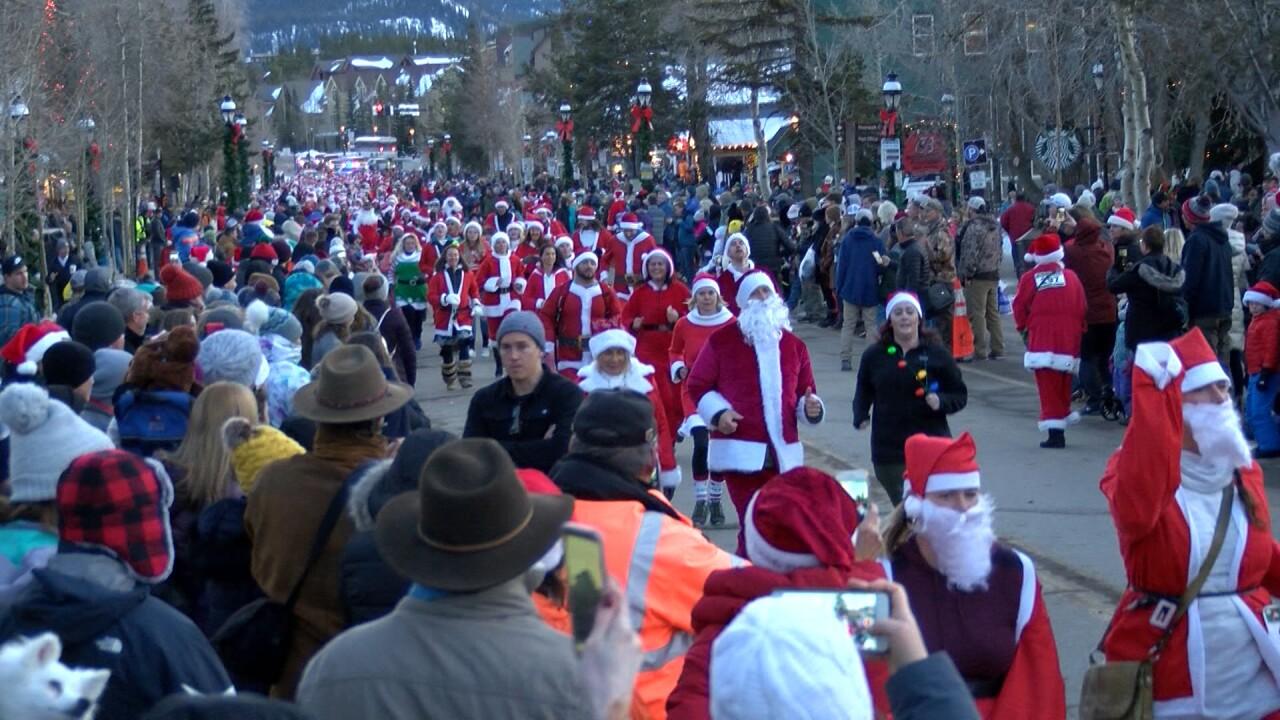 Racing of the Santas