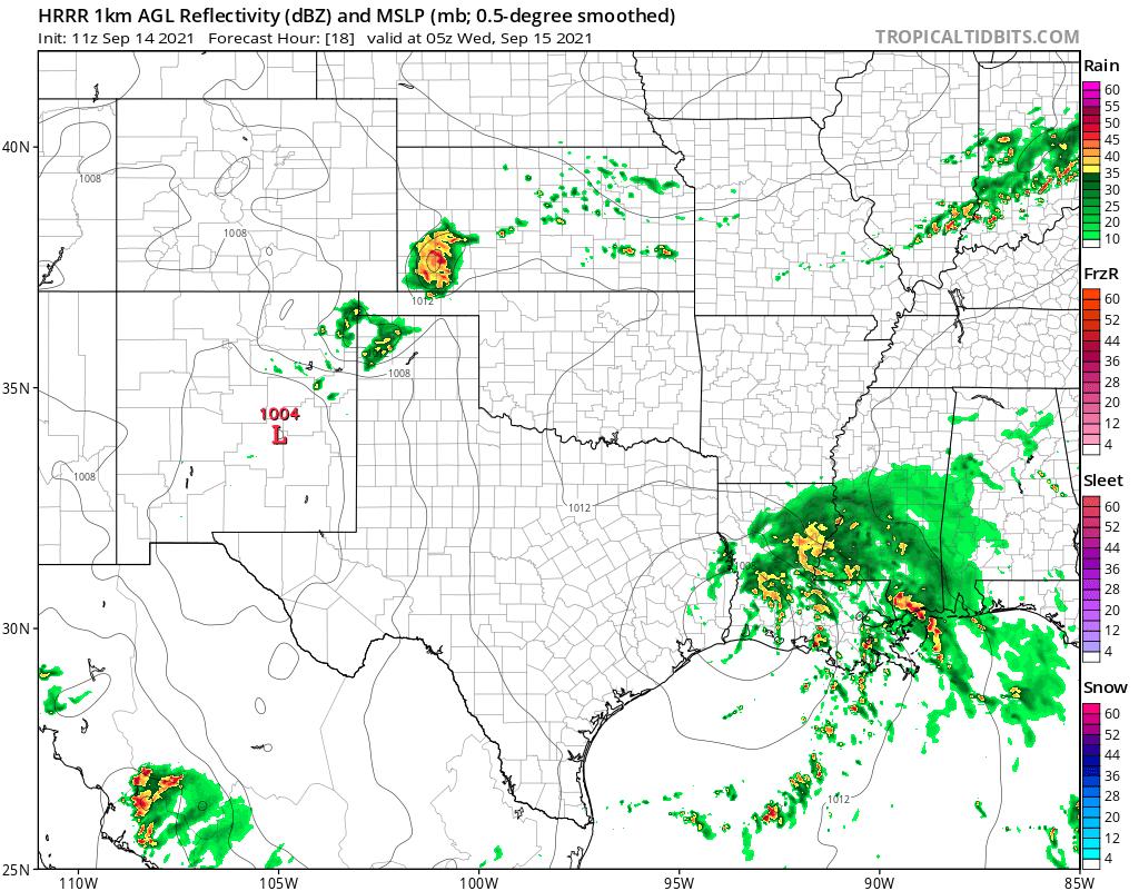 Midnight Surface Forecast