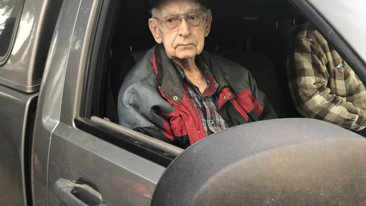Archie Aseltine on his 100th birthday