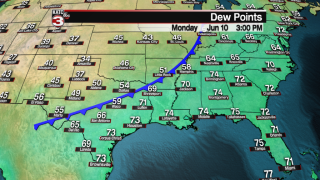 Drier air brings lower humidity to Acadiana this week