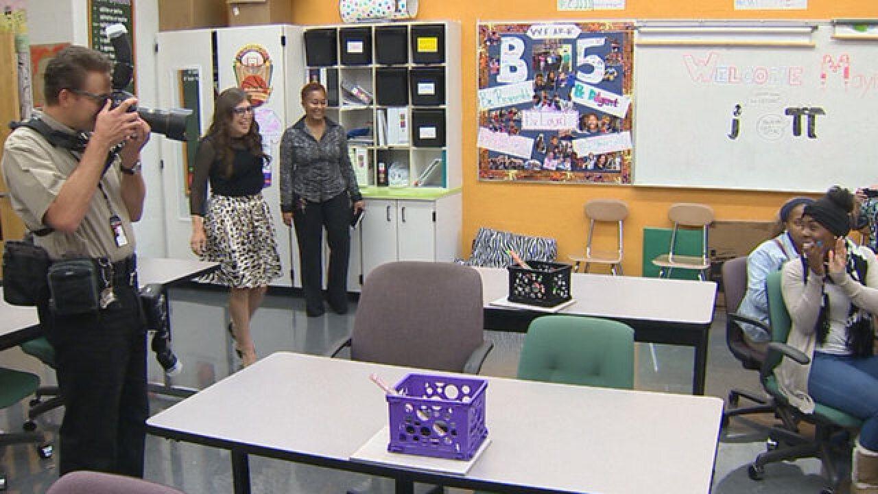 PHOTOS: Mayim Bialik Visits Nashville School