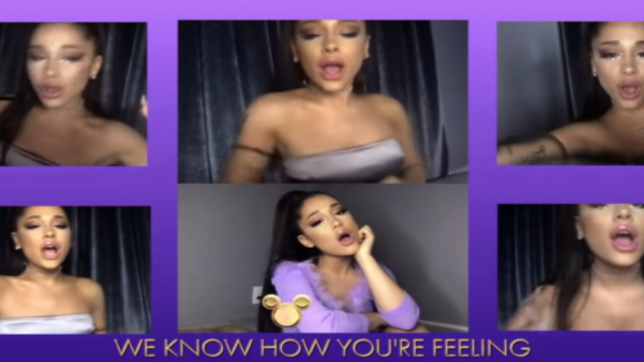 People Are Raving About Ariana Grande's Disney Singalong Performance