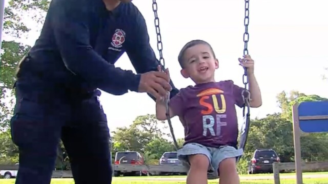 MC firefighters, community support family of toddler diagnosed with Duchenne muscular dystrophy