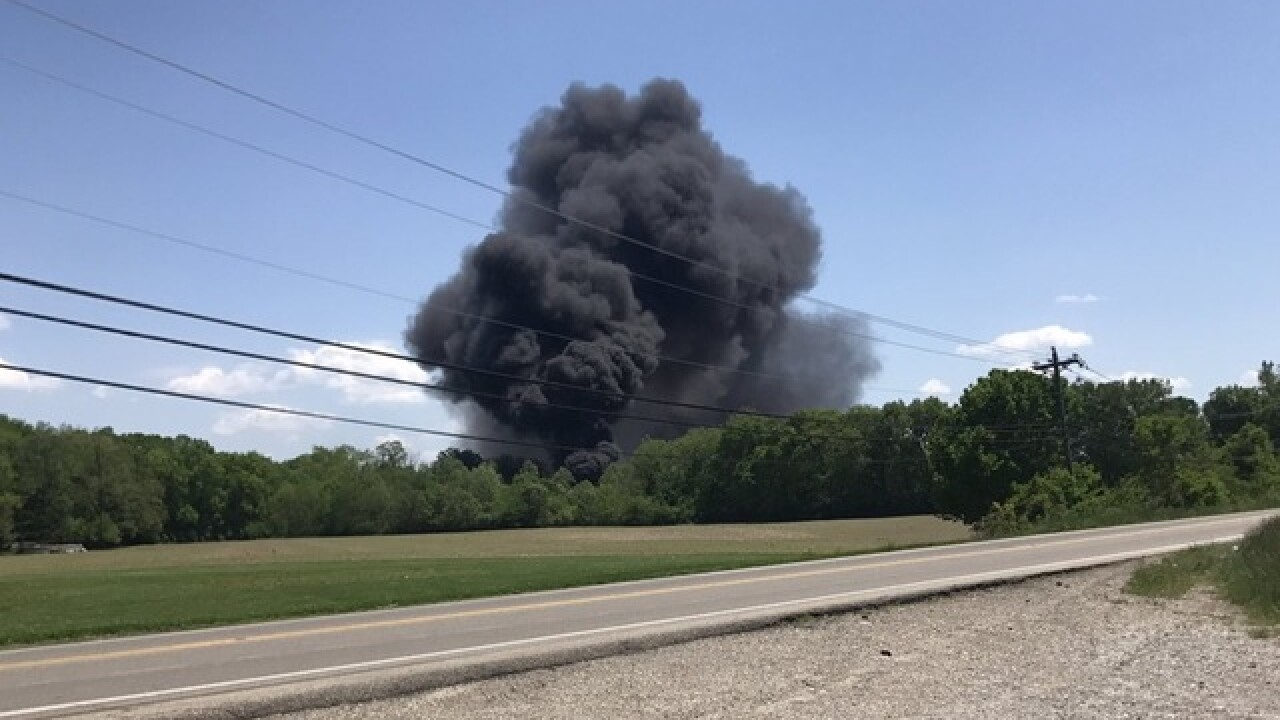 Large fire reported at Butler County pipe-maker