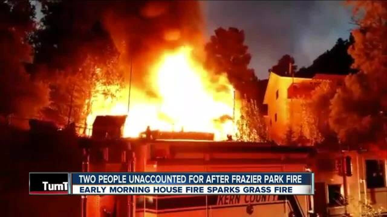 KCFD battling house fire in Frazier Park