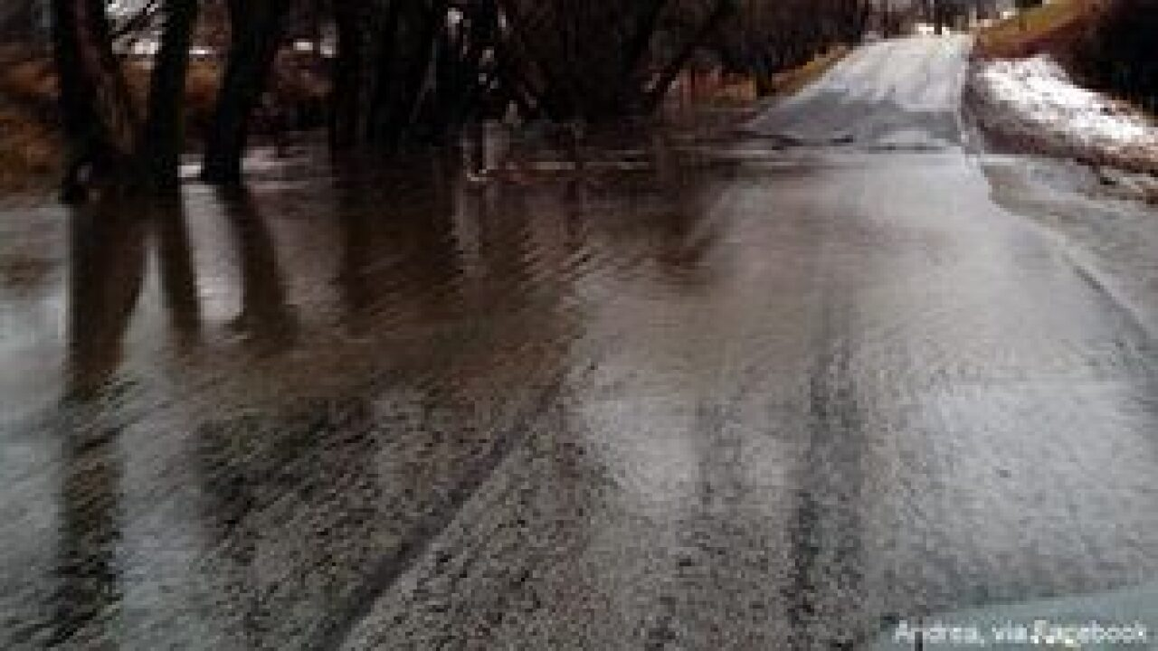 Flooding in areas of Cache Valley