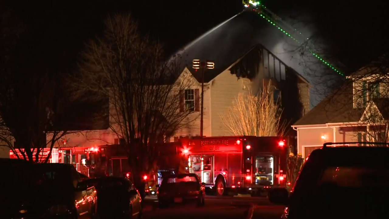 Portsmouth firefighters respond to large housefire
