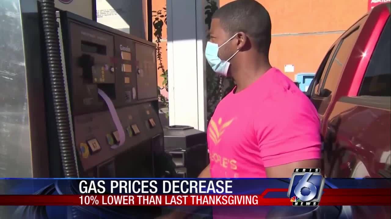 Travel, gas prices down this Thanksgiving season