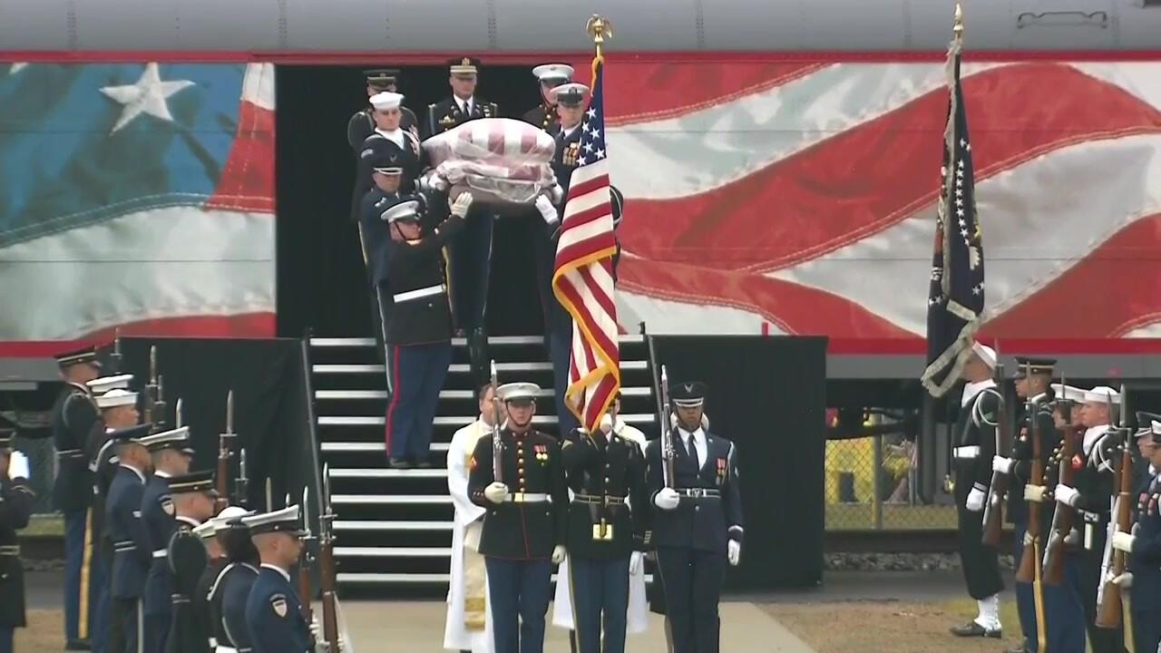 President George H.W. Bush laid to rest inTexas