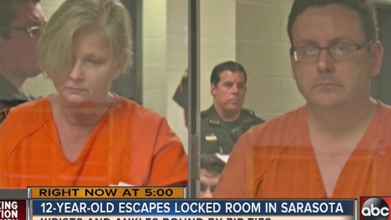 """Child found zip-tied, confined to """"playhouse"""""""