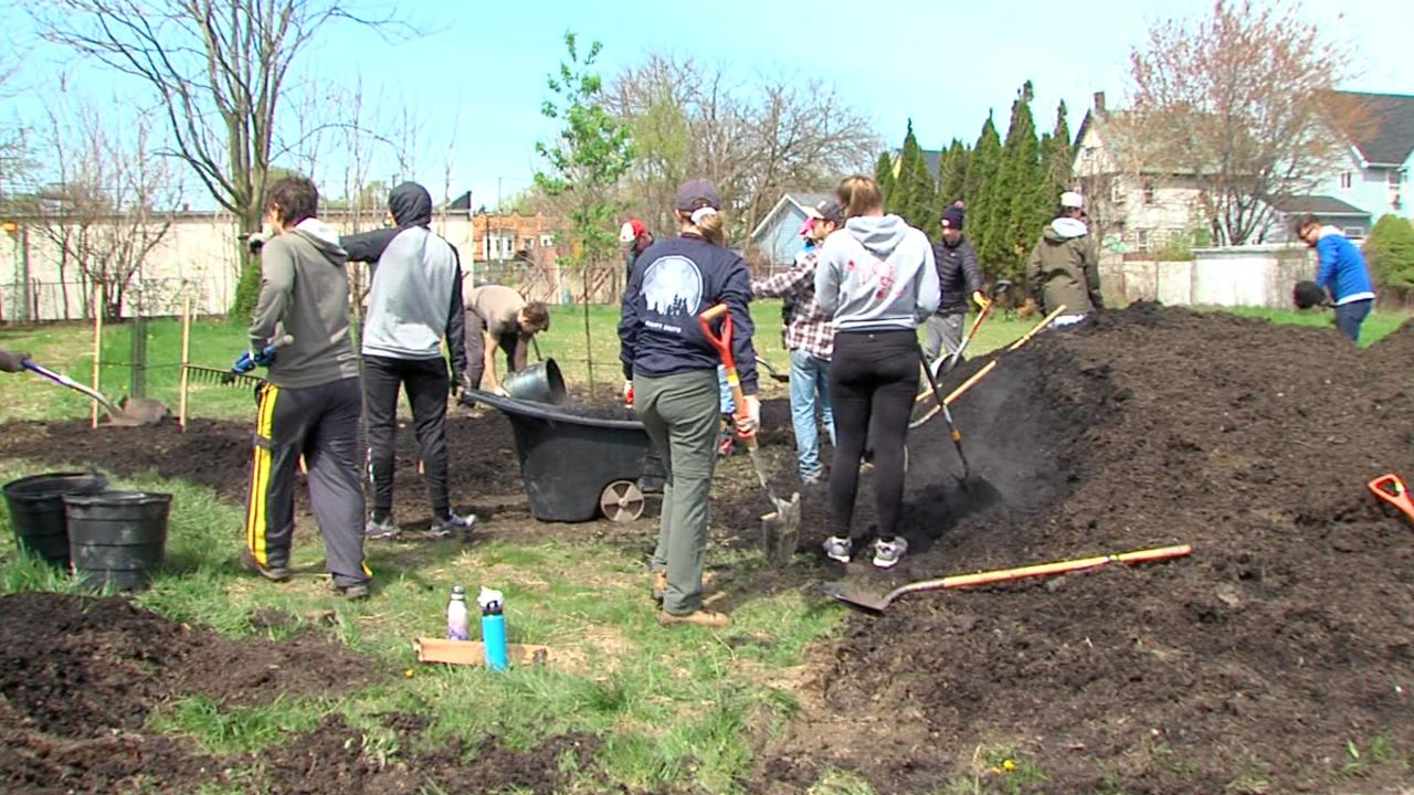 Slavic Village tree planting