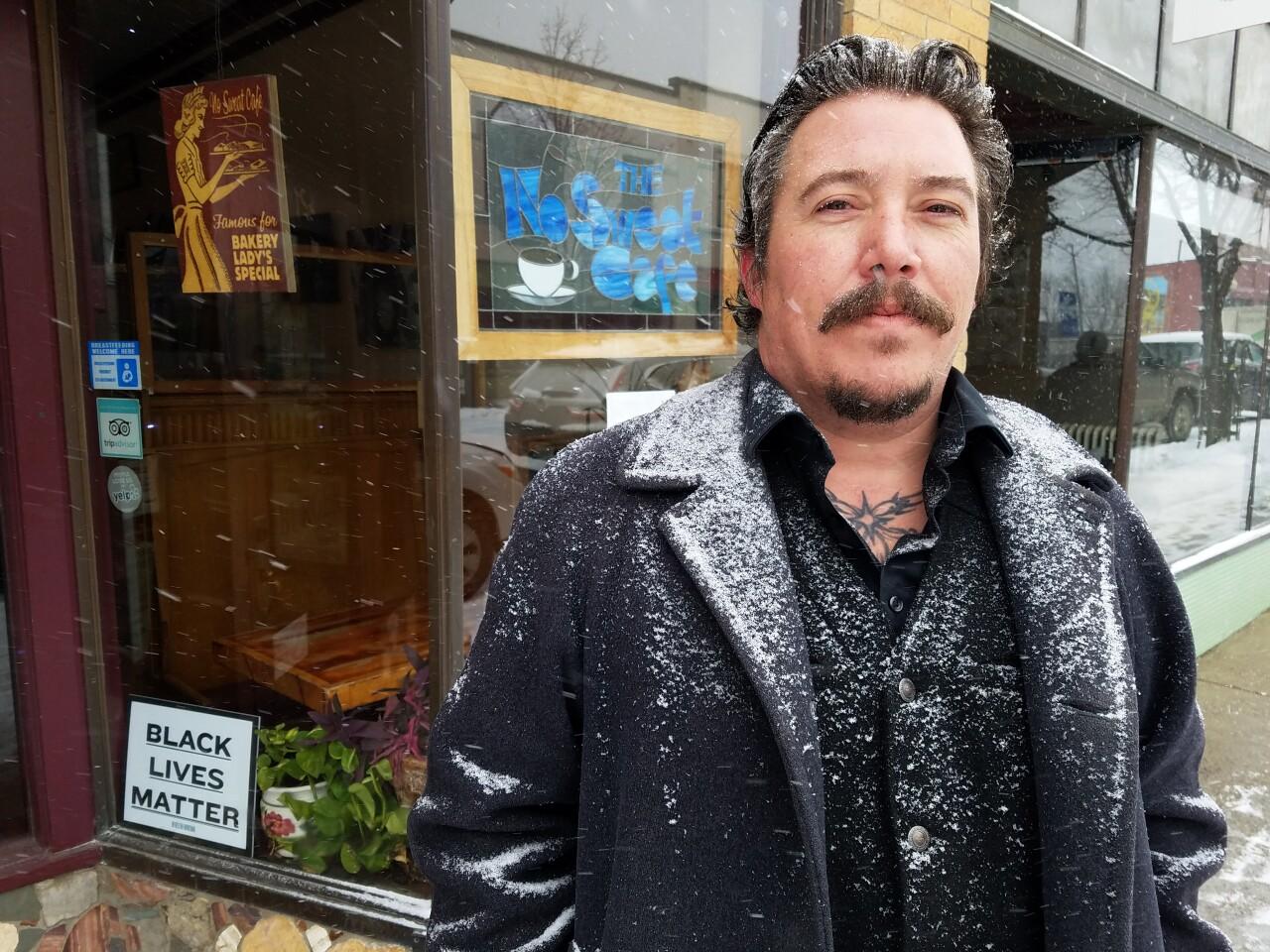 Eli Eller, Manger of No Sweat Cafe