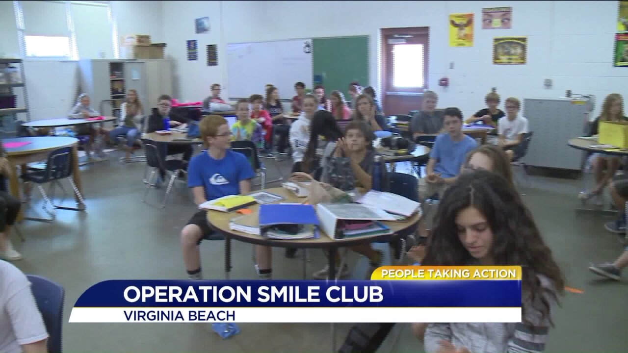 Virginia Beach teacher honored for her work with Operation Smileclub