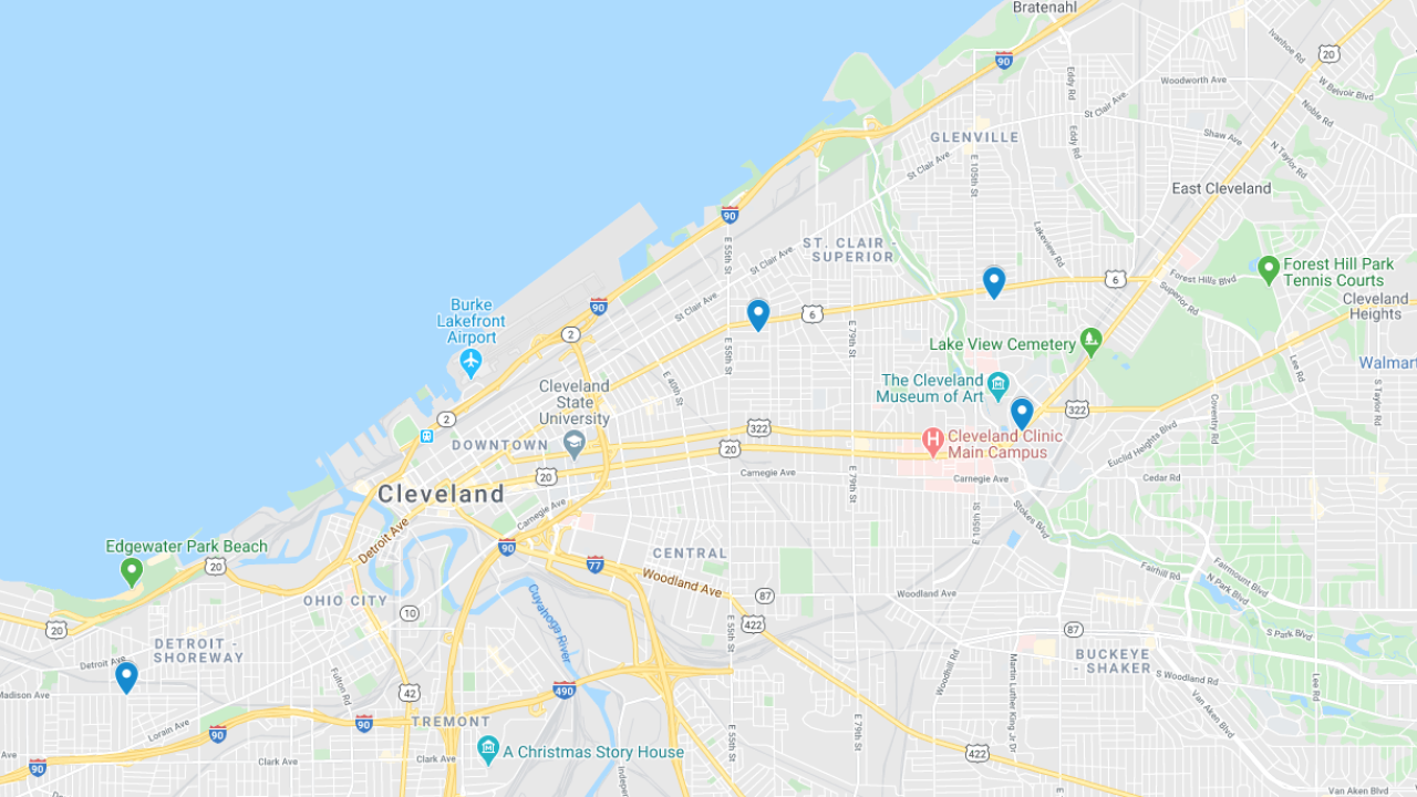 July 14 shootings map