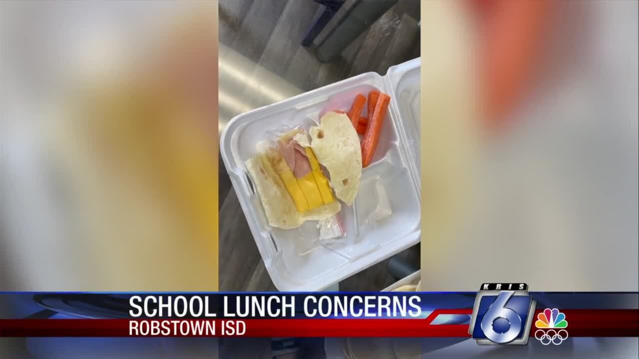 Food provided by the Robstown ISD has prompted much social media comment