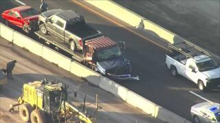 Crash on I-25 at Greenland Road exit_April 12 2021