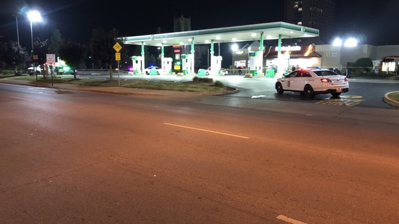 Gas station shooting injures one
