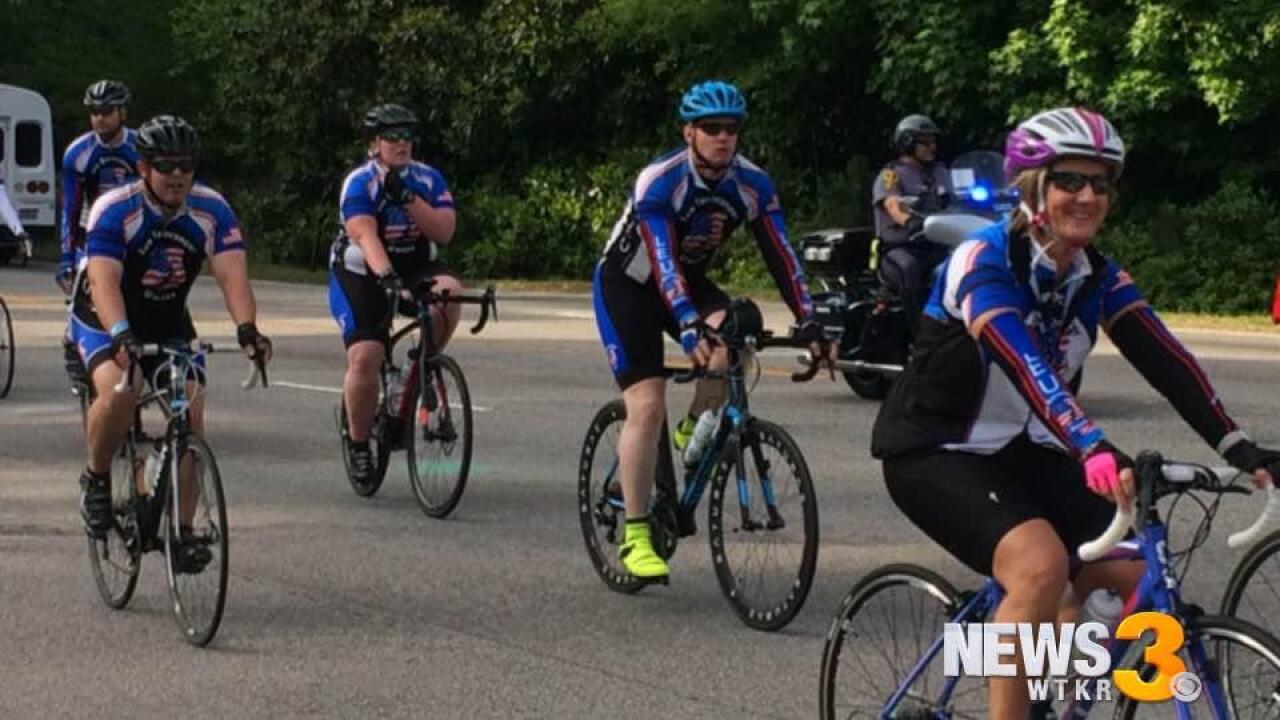 Law Enforcement United Tour rides 250 miles, honoring fallenofficers