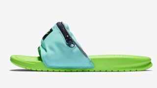Nike's new fanny pack slides: convenient shoe storage or summer flop?