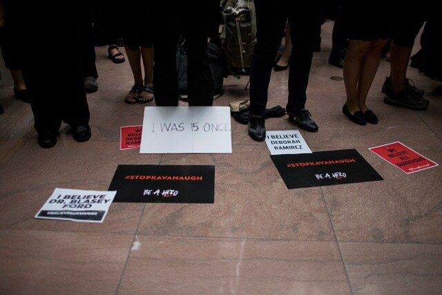 Kavanaugh hearings: Protests taking place on Capitol Hill