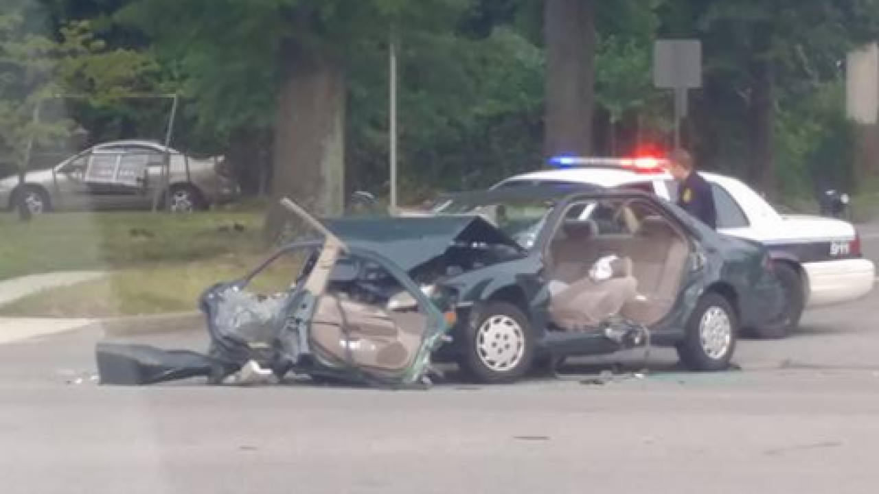 Police respond to three-vehicle crash in Norfolk