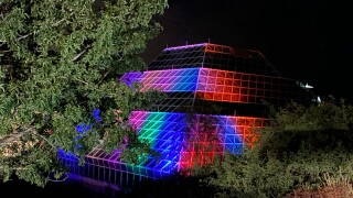 Biosphere 2 nighttime driving tour