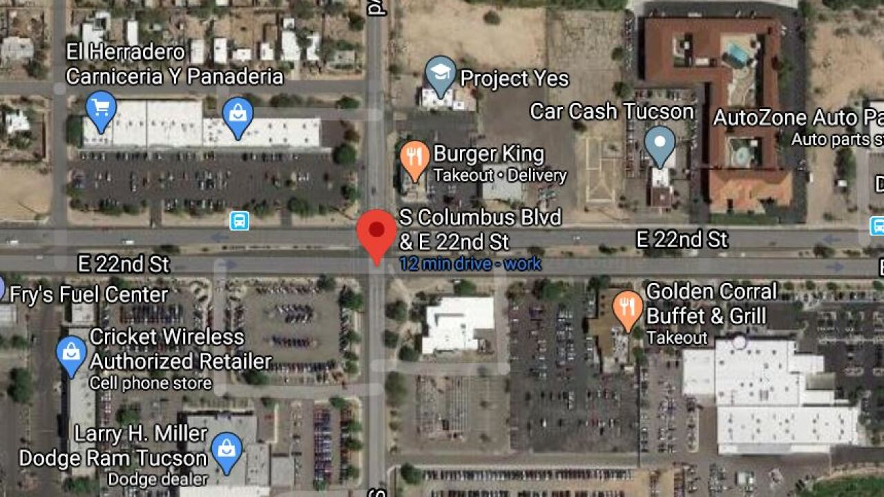 Tucson police say a 25-year-old woman died from injuries suffered in a June 4 wreck. Photo via Google Maps.
