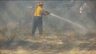 Sandy brush fire