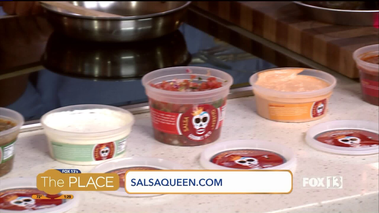 Learning how to work fresh gourmet salsas into recipes with Salsa Queen