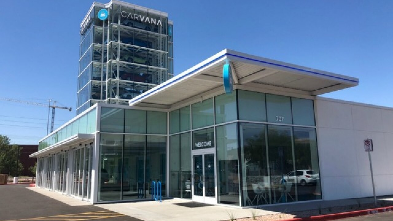 Car vending machine: Take a tour of Carvana's 9-story car