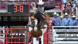 Wyoming's Brody Cress makes history at Frontier Days, Cut Banks Dustin Bird wins team roping